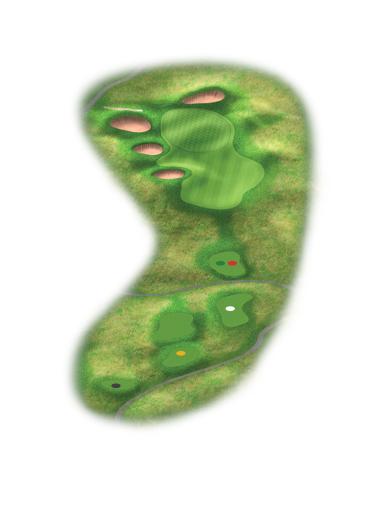 Hole 7 | Par 3 | Black 228 | Gold 205 | White 161 | Green 120 | Red 120